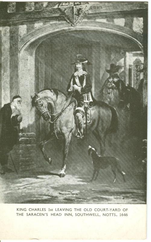 King Charles 1st Leaving the old Court-Yard
