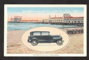 ATLANTIC CITY NEW JERSEY THE PONTIAC SIX CAR DEALER ADVERTISING VINTAGE POSTCARD