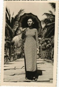 CPA AK INDOCHINA Real Photo on Postcard VIETNAM (956450)