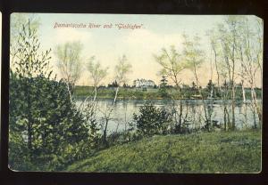 Newcastle, Maine/ME Postcard, Damariscotta River & Gladisfen