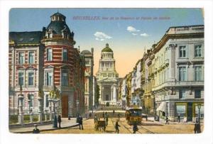 BRUXELLES. Rue de la Regence et Palais de justice , 00-10s BELGIUM