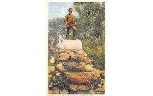 Statue of Captain Parker Lexington, Massachusetts Postcard