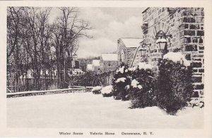 New York Oscawana Valeria Home Winter Scene Albertype