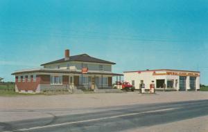 ST-BERNARD , Quebec , 50-60s; Restaurant CHEZ PAUL , Garage & ESSO Gas Station