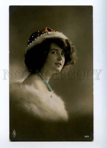 226964 FASHION Belle Lady in Fur Vintage PFB #683 PHOTO PC