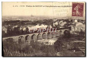 Old Postcard Viaduct Royat and Clermont Vue Generale On Train