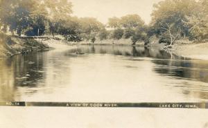 IA - Lake City. Coon River   *RPPC