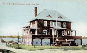 1910 South Boston Massachusetts Postcard: Mosquito Fleet Yacht Club House