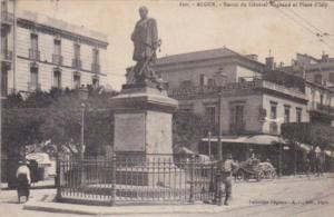 Algeria Alger Statue du General Bugeaud et Place d'Isly