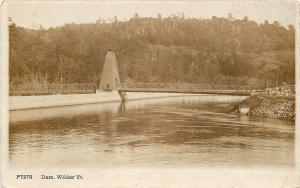 Wilder Vermont~Dam~Sharp! Sepia Real Photo Postcard  1915