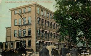 1912 Factory Industry Office Shipyards Quincy Massachusetts Valentine 10843