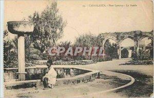 Old Postcard Casablanca Lyautey Basin Park
