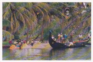 India Kerala Back Water Fishermen with Nets