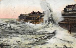 England Rough Sea Storm at Margate 1908