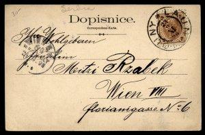Austria 1898 Louny Laun Card  to Vienna