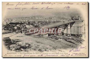 Postcard Old Marseille General view taken from the top of the elevator of Our...