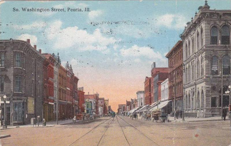 View of South Washington Street, Peoria, Illinois,00-10s