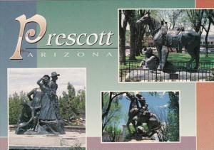 Arizona Prescott Sculptures Honoring Ranchers and Miners