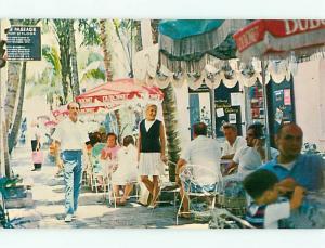 St Thomas Virgin Islands Dannys Pump Room Palm Passage Restauran Postcard # 7576