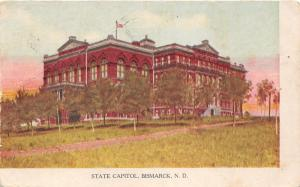 Bismark North Dakota~State Capitol~Note on Back about Postcard Collection~1907