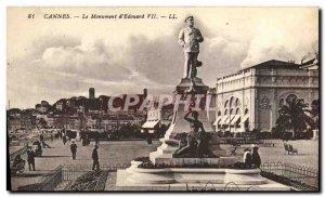 Old Postcard Cannes Monument d & # 39Edouard VII