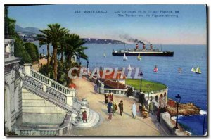 Old Postcard Monte Carlo Terraces and the Tir aux Pigeons
