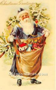 Santa Claus Postcard Old Vintage Christmas Post Card Reproduction Unused