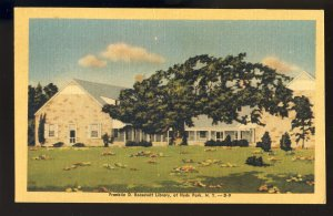 Hyde Park, New York/NY Postcard, View Of Franklin D. Roosevelt Library