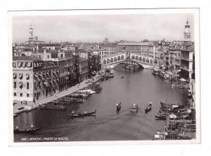 RPPC Venice Italy Ponte Di Rialto Real Photo Postcard Veneto