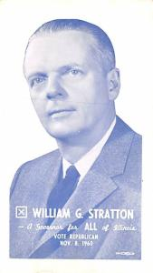 Post Card Old Vintage Antique William G Stratton for Governor of Illinois, Vo...