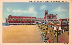 Convention Hall & 7th Ave. Pavilion, Asbury Park,, N.J., Early Postcard, Unused
