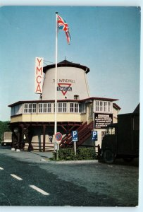 Windmill Cafe YMCA Canteen Autobahn Germany Vintage Postcard E01