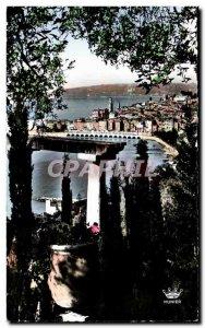 Old Postcard Menton Garavan View Near