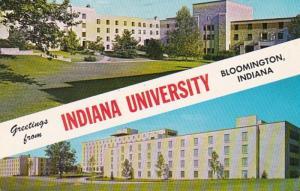 Indiana Bloomington Greetings From Indiana University Wright Quadrangle & Tet...