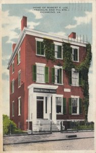 RICHMOND, Virginia, PU-1918; Home of Robert E. Lee, Franklin & 7th Sts.