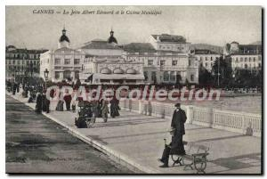 Old Postcard CANNES La Jetee Albert Edouard and the Municipal Casino