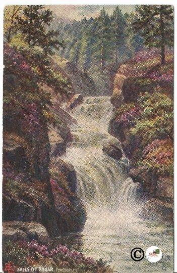 "Falls of Bruar Perthshire Raphael Tuck & Sons ""Oilette"" Beatiful Perthshire Tuck"