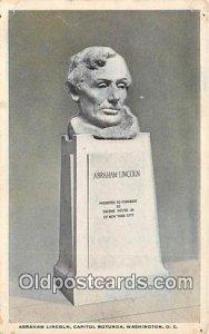 Abraham Lincoln, Capitol Rotunda Washington, DC, USA Unused