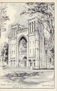 Christ Church Cathedral , VICTORIA , b.C. , Canada , 40-50s ; Edward GOODALL ...