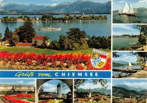 Gruess vom Chiemsee multiviews Insel Schiff Lake Boat Palace General view