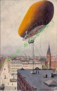 1915 Tethered German Military Zeppelin on Tuck Serie 500B PC, Signed
