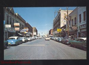 ROLLA MISSOURI DOWNTOWN PINE STREET SCENE ROUTE 66 VINTAGE POSTCARD OLD CARS