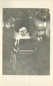 Louise Sackett Miller~Baby Bonnet~5 Months Old~Vintage Carriage~1908 RPPC