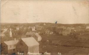 Marshfield MA Aerial View 1913 RPPC Postcard
