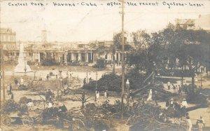 LP39 Cuba  Real photo Postcard 1906 Cyclone Disaster Central Park Cuban