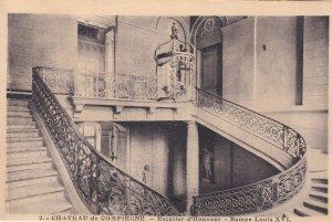 Escalier D'Honneur Rampe Louis XVI Chateau De Compiegne Antique French Postcard