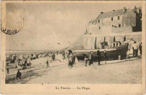 CPA LE PORTEL - La Plage (138820)