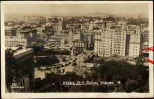 Brisbane Queensland Birdseye View Old Real Photo Postcard
