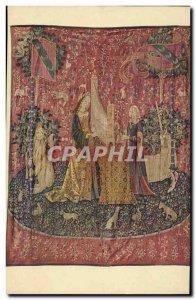 Old Postcard Organ Tapestry The lady unicorn