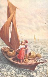 Entre le ciel et l'eau, Boat, Bateau, Lovers, Mastroianni, A. Noyer